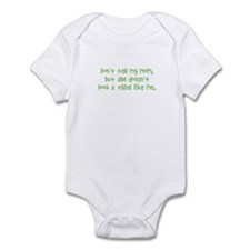 """don't tell my mom..."" infant bodysuit"