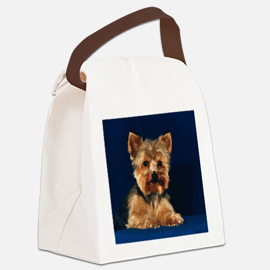 yorkietile.png Canvas Lunch Bag