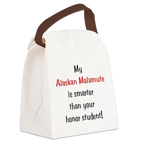 smartermalamute10.png Canvas Lunch Bag