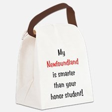 smarternewf10.png Canvas Lunch Bag