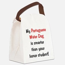 portuguesewaterdog-smarter10.png Canvas Lunch Bag