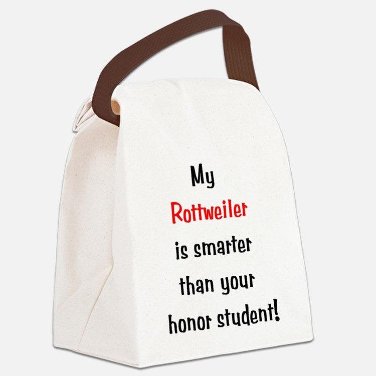 rottweiler-smarter10.png Canvas Lunch Bag