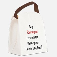 smartersamoyed10.png Canvas Lunch Bag