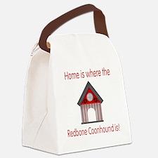homeredbone3.png Canvas Lunch Bag