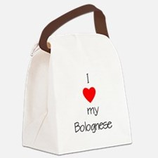 bologneselovemy.png Canvas Lunch Bag