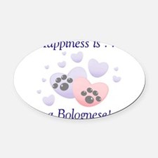 bolognesehappiness.png Oval Car Magnet