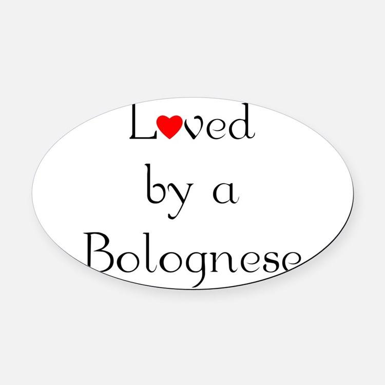 bologneseloved.png Oval Car Magnet