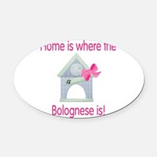 bolognesehome2.png Oval Car Magnet