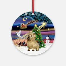 Xmas Magic & Norwich Terrier Ornament (Round)