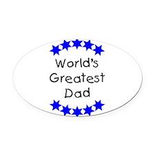 greatestdadblue.png Oval Car Magnet
