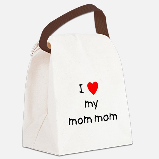 lovemymommom.png Canvas Lunch Bag