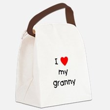 lovemygranny.png Canvas Lunch Bag