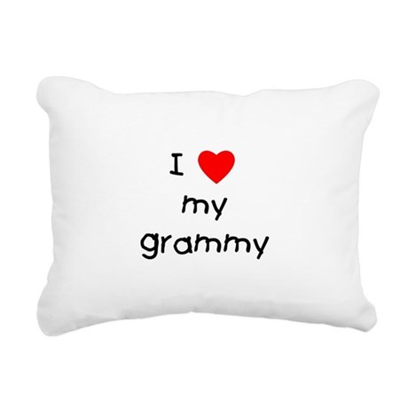 I love my grammy Rectangular Canvas Pillow