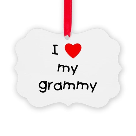 I love my grammy Picture Ornament