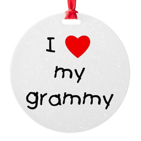 I love my grammy Round Ornament
