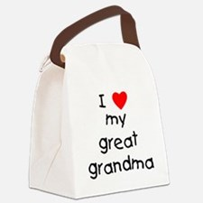 I love my great grandma Canvas Lunch Bag