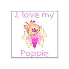 "lovemypoppie.png Square Sticker 3"" x 3"""