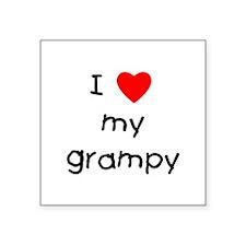 "I love my grampy Square Sticker 3"" x 3"""