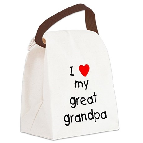 I love my great grandpa Canvas Lunch Bag