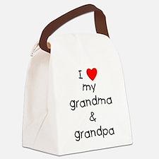 I love my grandma & grandpa Canvas Lunch Bag