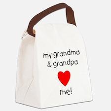 My grandma & grandpa love me Canvas Lunch Bag