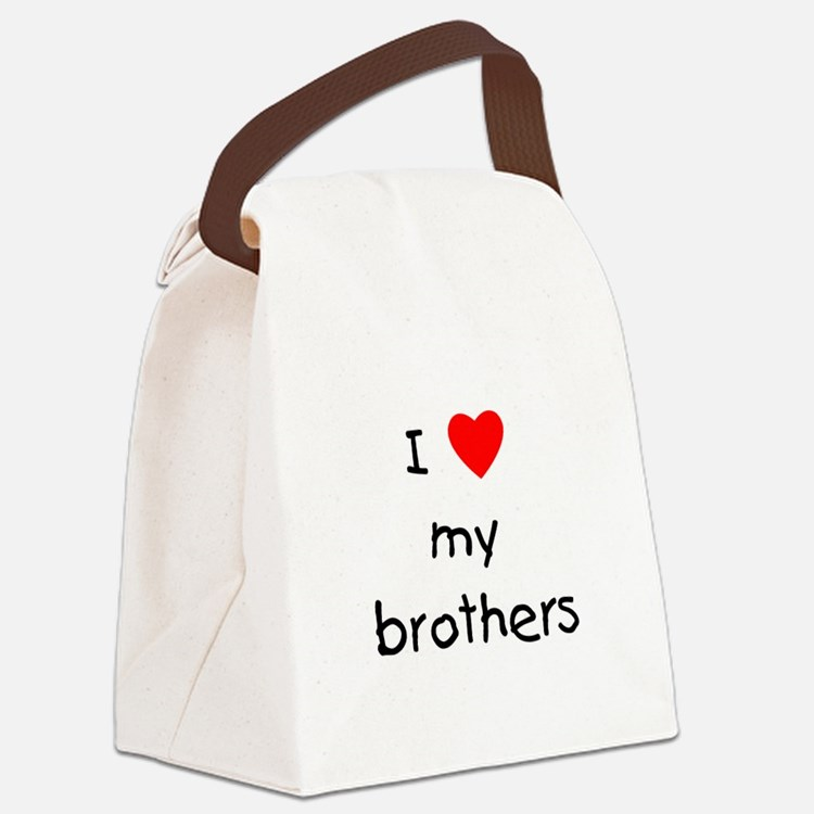 lovemybrothers.png Canvas Lunch Bag