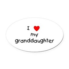 lovemygranddaughter.png Oval Car Magnet