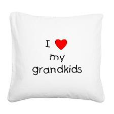 lovemygrandkids.png Square Canvas Pillow