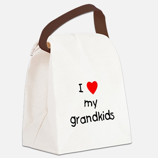 lovemygrandkids.png Canvas Lunch Bag