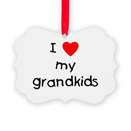 lovemygrandkids.png Picture Ornament