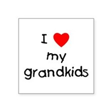 "lovemygrandkids.png Square Sticker 3"" x 3"""