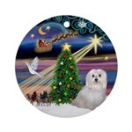 Xmas Magic & Maltese (Sndg) Ornament (Round)
