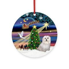 Xmas Magic & Maltese (Sndg) Ornament (Round)