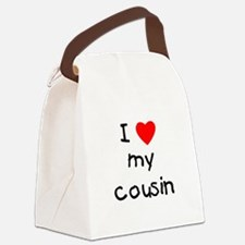 lovemycousin.png Canvas Lunch Bag