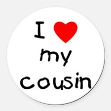 lovemycousin.png Round Car Magnet