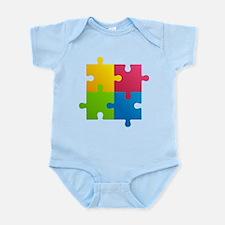 Colorful Puzzle Infant Bodysuit