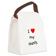 lovemyaunts.png Canvas Lunch Bag