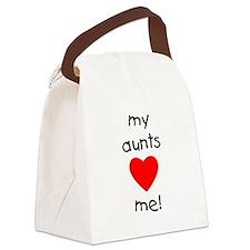 auntsloveme.png Canvas Lunch Bag