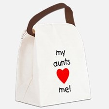 auntsloveme.png Canvas Lunch Bag