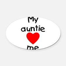 lovesme-auntie.png Oval Car Magnet