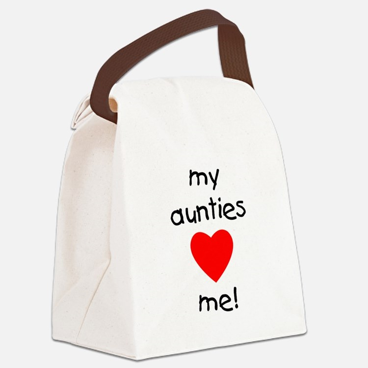 auntiesloveme.png Canvas Lunch Bag
