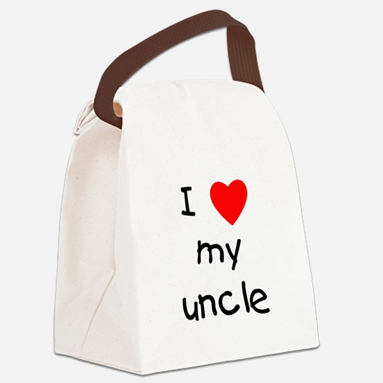 lovemyuncle.png Canvas Lunch Bag