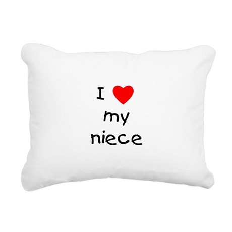 lovemyniece.png Rectangular Canvas Pillow