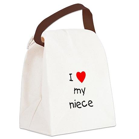 lovemyniece.png Canvas Lunch Bag