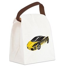 Sports Car Canvas Lunch Bag