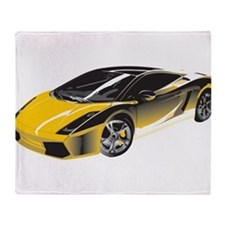Sports Car Throw Blanket