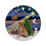 Xmas Magic & Golden (B2) Ornament (Round)