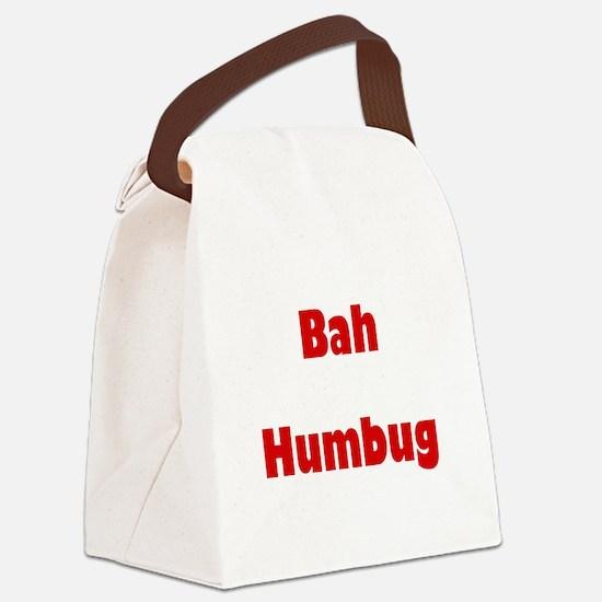bahhumbugred.png Canvas Lunch Bag