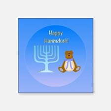 "Cute Hannukah Square Sticker 3"" x 3"""