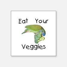 "veggiesbib.png Square Sticker 3"" x 3"""